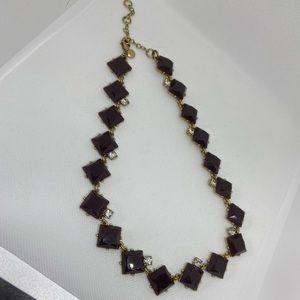J. Crew gold tone brown stone necklace